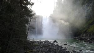 Snoqualmie Falls flowing powerfully like we should with loving kindness
